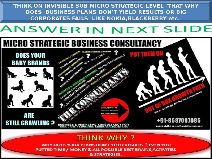 THINK ON INVISIBLE SUB MICRO STRATEGIC LEVEL THAT WHY DOES BUSINESS PLANS DON'T YIELD RESULTS OR