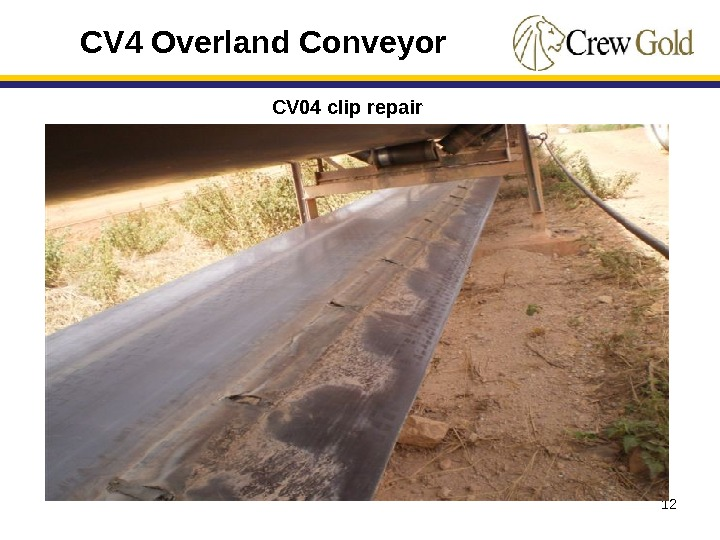 12 CV 4 Overland Conveyor CV 04 clip repair