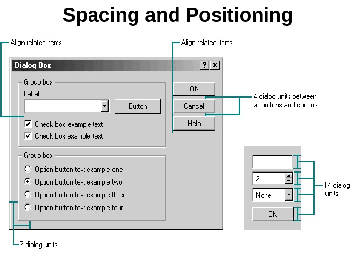 Spacing and Positioning