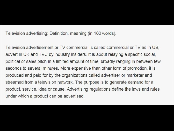 http: //www. adglitz. com/2010/11/television-ad vertising-meaning-definition/