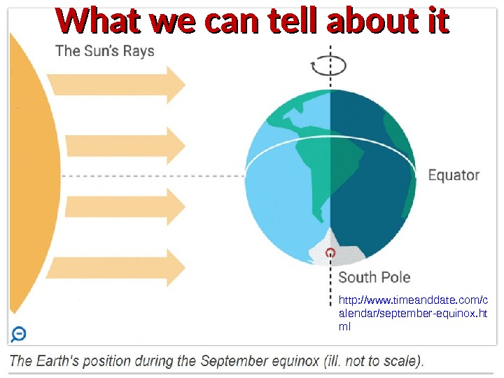 http: //www. timeanddate. com/c alendar/september-equinox. ht ml What we can tell about it