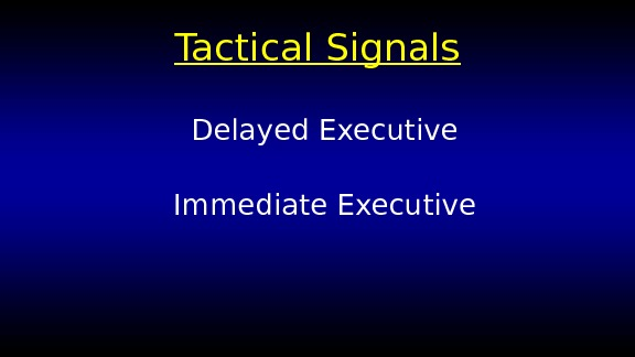 Tactical Signals Delayed Executive Immediate Executive