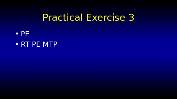 Practical Exercise 3 • PE • RT PE MTP
