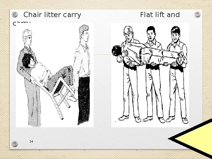 - Chair litter carry Flat lift and carry 14
