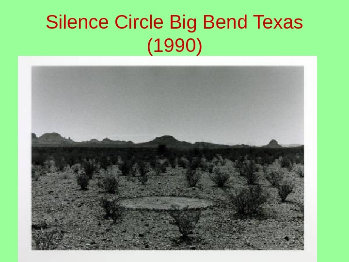 Silence Circle Big Bend Texas (1990)