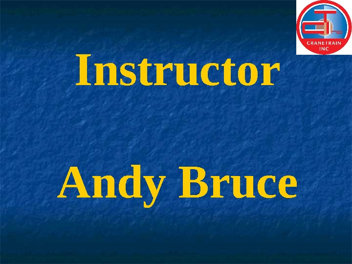Instructor Andy Bruce