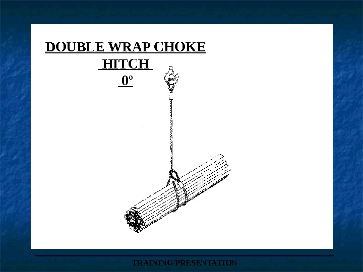 DOUBLE WRAP CHOKE  HITCH  0º ___________________ TRAINING PRESENTATION