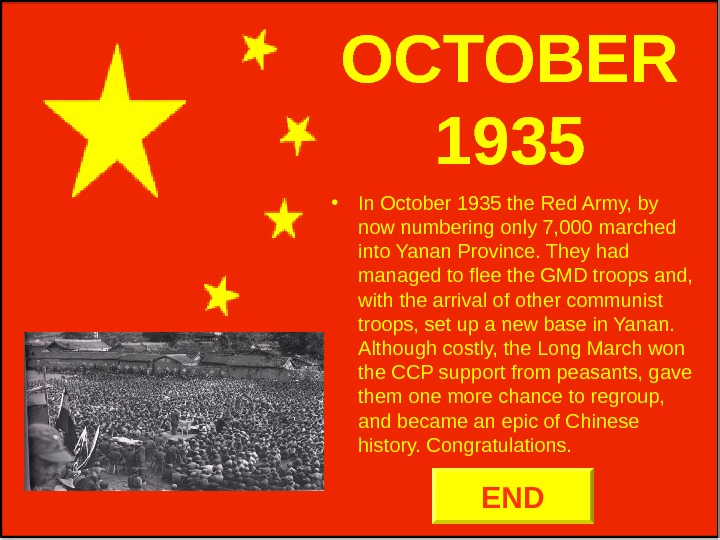 OCTOBER 1935 • In October 1935 the Red Army, by now numbering only 7,