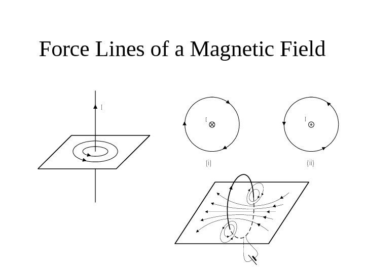 Force Lines of a Magnetic Field. I I ( i )( i i )