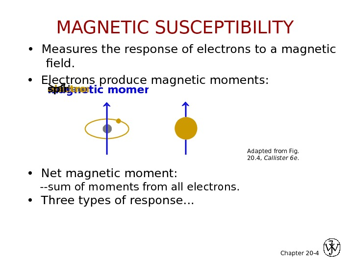 Chapter 20 - 4 •  Measures the response of electrons to a magnetic