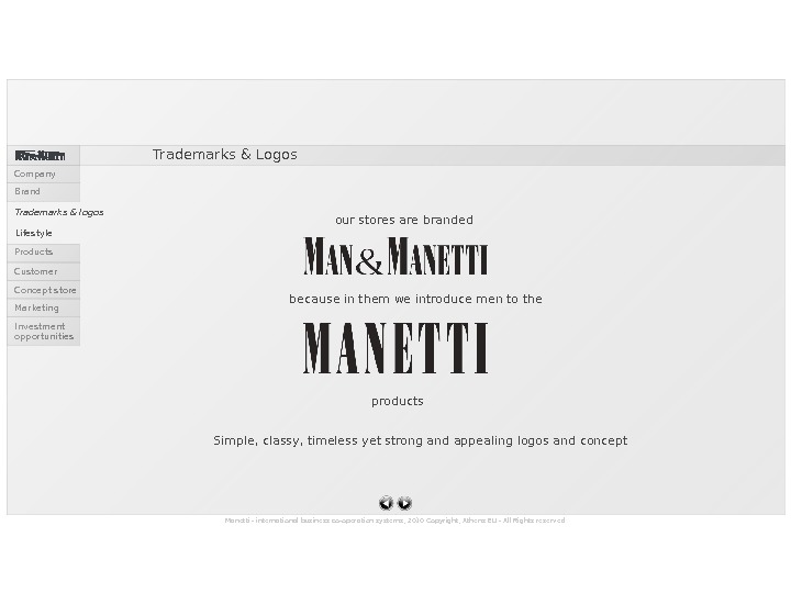 Manetti - international business co-operation systems, 2010 Copyright, Athens EU - All Rights reserved productsbecause in