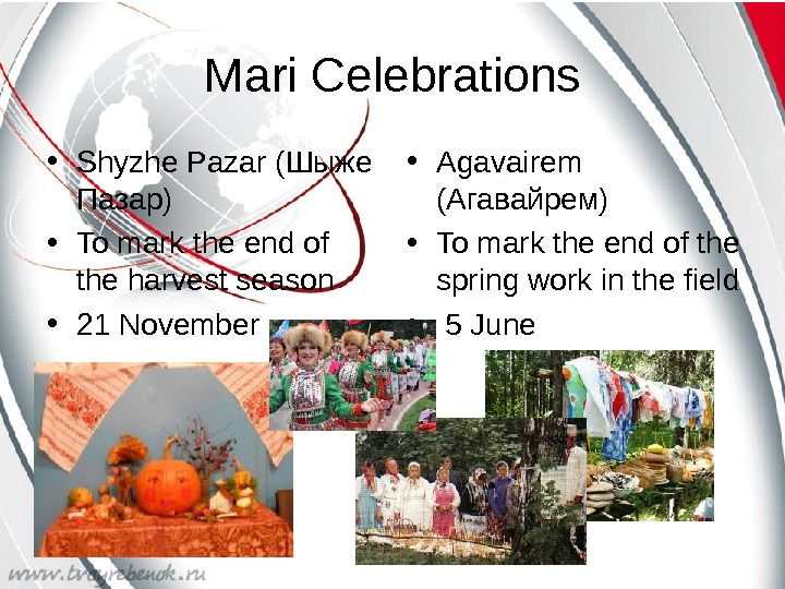 Mari Celebrations • Shyzhe Pazar ( Шыже Пазар ) • To mark the end