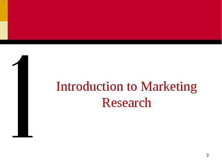 2 Introduction to Marketing Research
