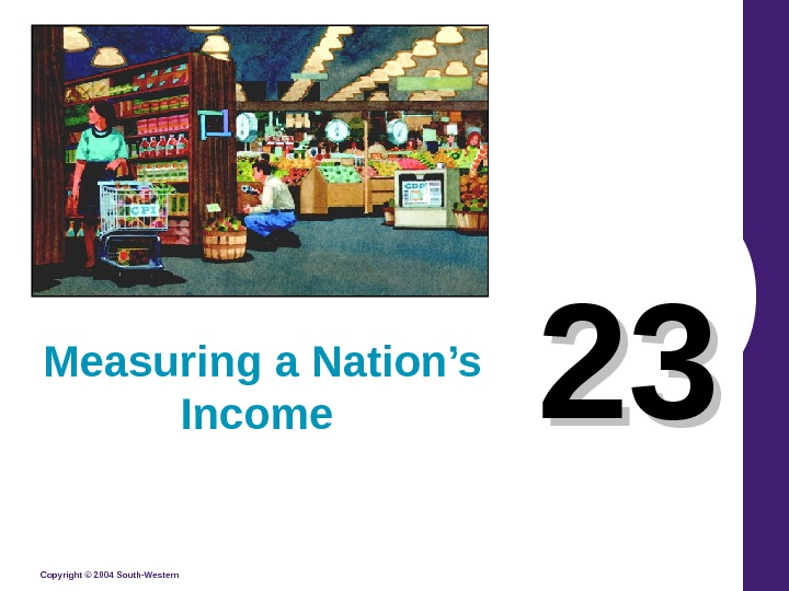 Copyright © 2004 South-Western 2323 Measuring a Nation's Income