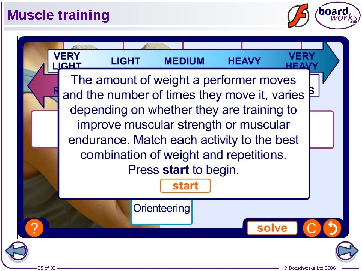 © Boardworks Ltd 200625 of 33 Muscle training
