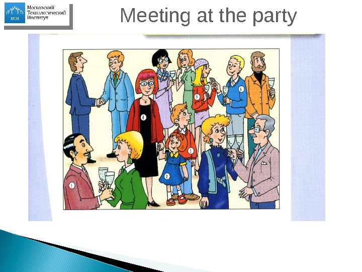 Meeting at the party