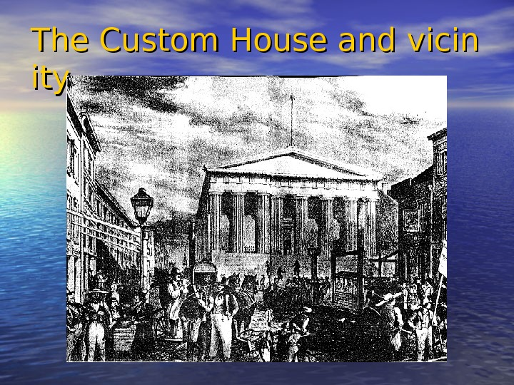 The Custom House and vicin ityity