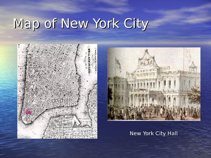 Map of New York City Hall