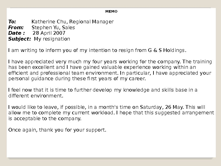 MEMO To:  Katherine Chu, Regional Manager From:  Stephen Yu, Sales Date :  28