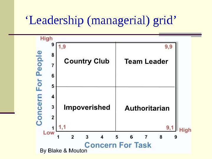 ' Leadership (managerial) grid'