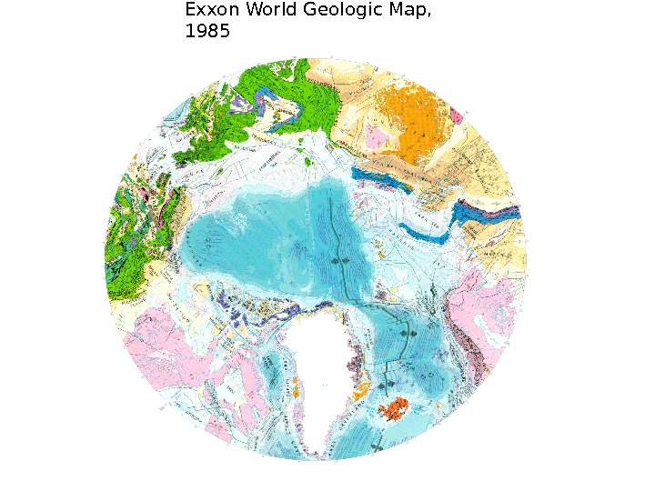 Exxon World Geologic Map,  1985