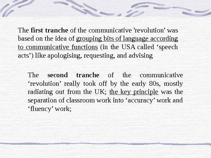The first tranche of the communicative 'revolution' was based on the idea of grouping bits of