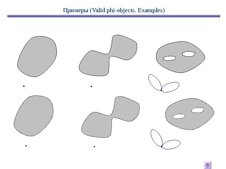 Примеры ( Valid phi - objects.  Examples)