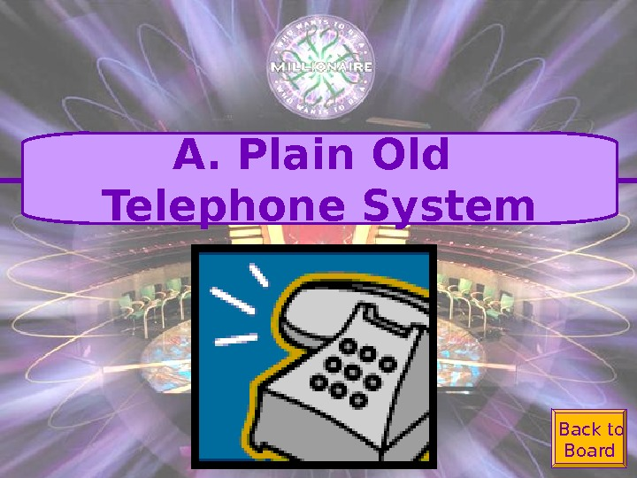 Back to Board. A. Plain Old Telephone System