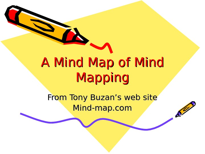 A Mind Map of Mind Mapping From Tony Buzan's web site Mind-map. com