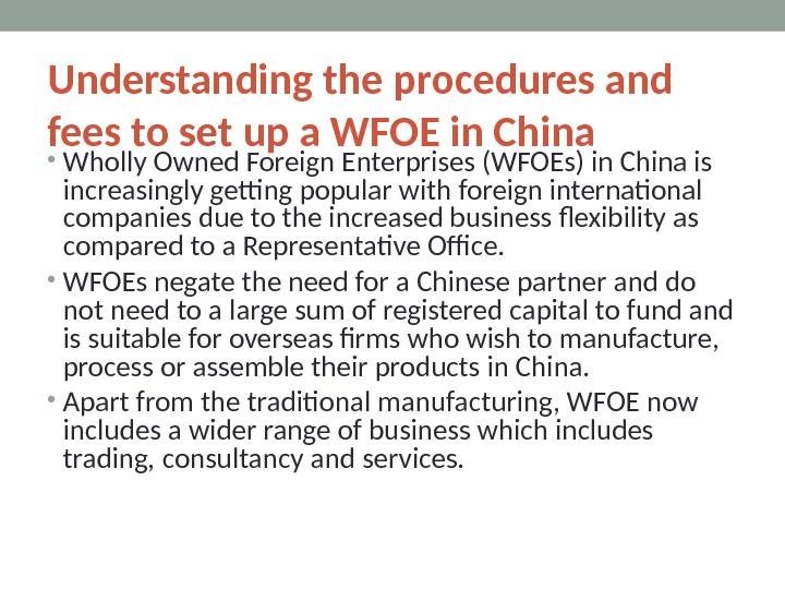 Understanding the procedures and fees to set up a WFOE in China • Wholly Owned Foreign