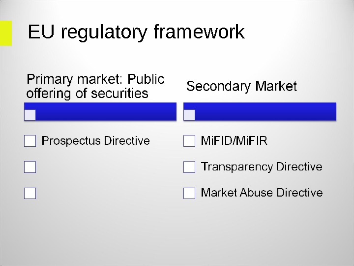 EU regulatory framework