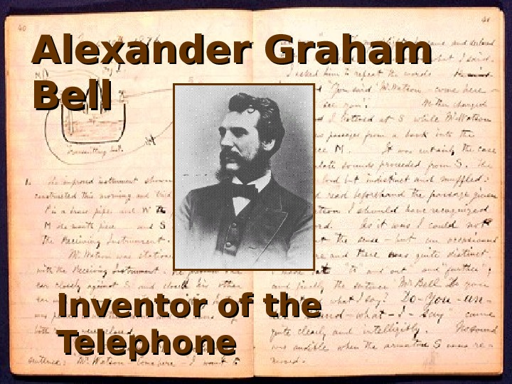 Alexander Graham Bell Inventor of the Telephone