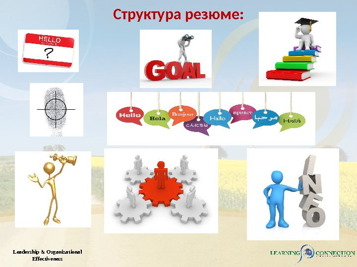 Leadership & Organizational Effectiveness Структура резюме: