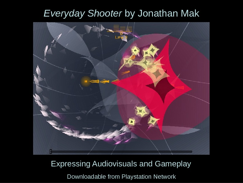 Expressing Audiovisuals and Gameplay. Everyday Shooter by Jonathan Mak Downloadable from Playstation Network
