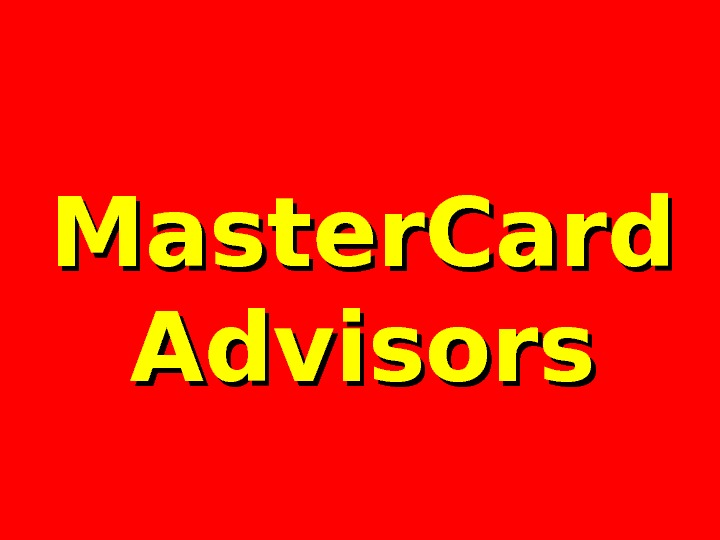 Master. Card Advisors