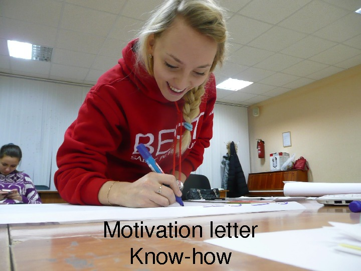 Motivationletter Knowhow