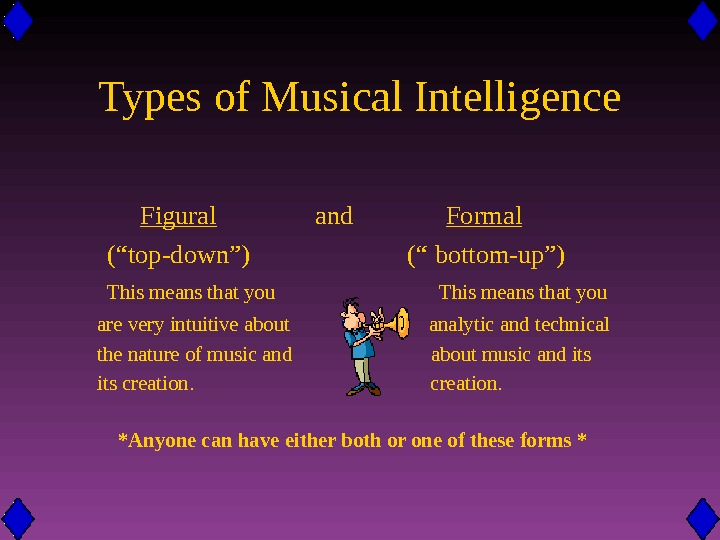 Types of Musical Intelligence   Figural    and