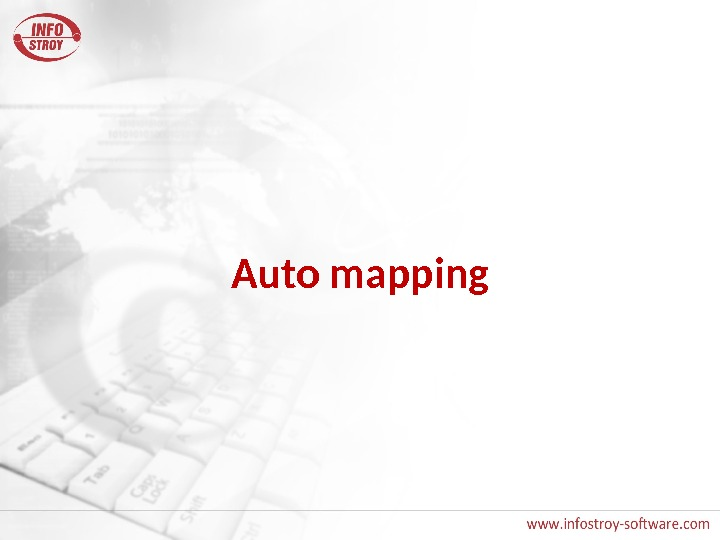 Auto mapping