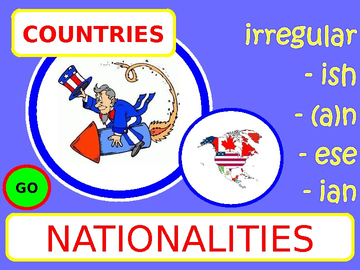 NATIONALITIESCOUNTRIES GO