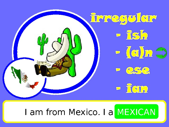 I am from Mexico. I am MEXICAN
