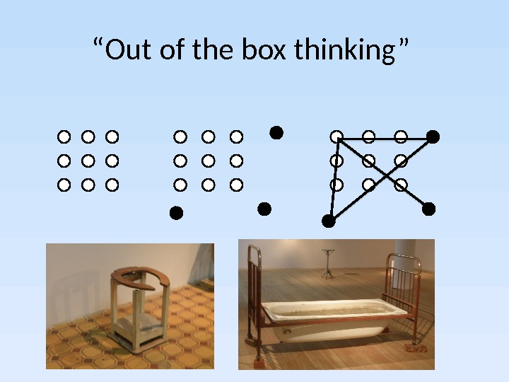 """ Out of the box thinking"""