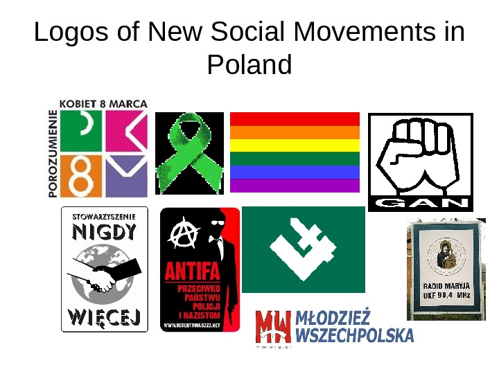 Logos of New Social Movements in Poland