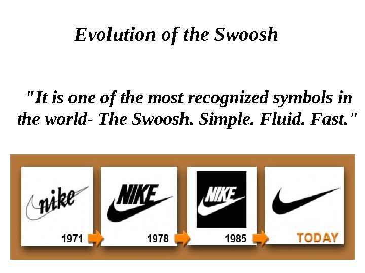 It is one of the most recognized symbols in the world- The Swoosh. Simple. Fluid. Fast.