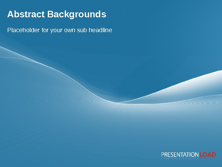 Page 3 Abstract Backgrounds Placeholder for your own sub headline