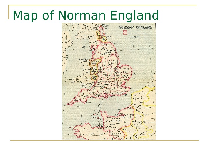 Map of Norman England