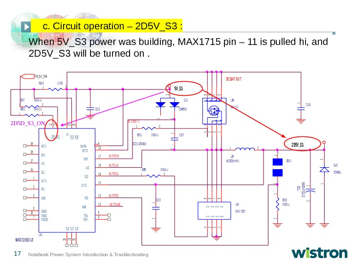 17 Notebook Power System Introduction & Troubleshooting When 5 V_S 3 power was building, MAX 1715