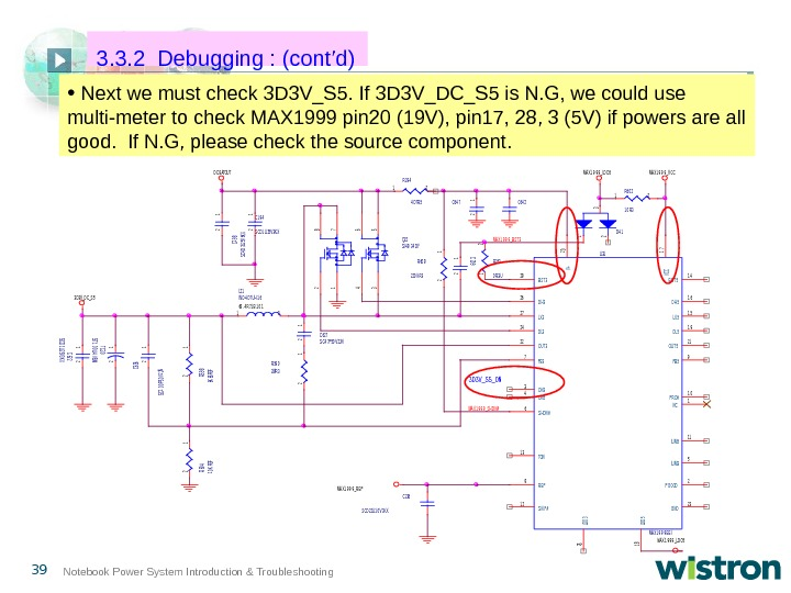 39 Notebook Power System Introduction & Troubleshooting •  Next we must check 3 D 3