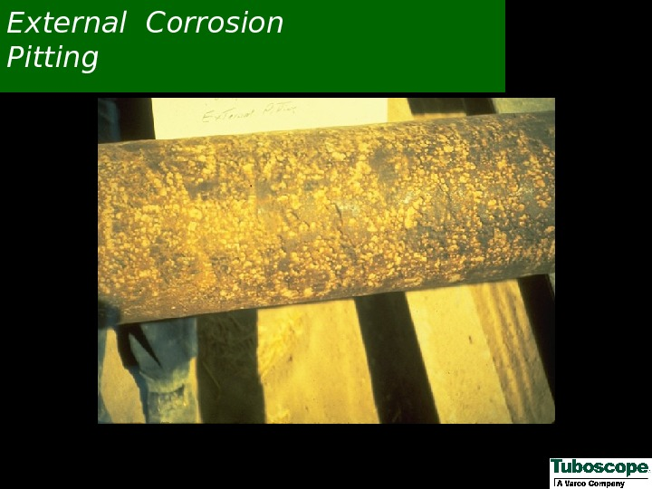 External Corrosion Pitting