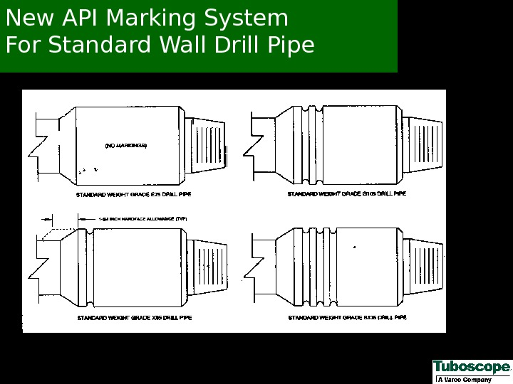 New API Marking System For Standard Wall Drill Pipe
