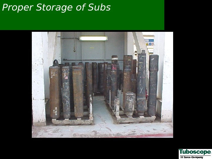 Proper Storage of Subs